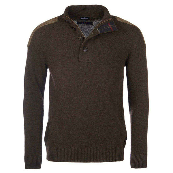 Charlock Half Button Jumper in Olive by Barbour - FINAL SALE