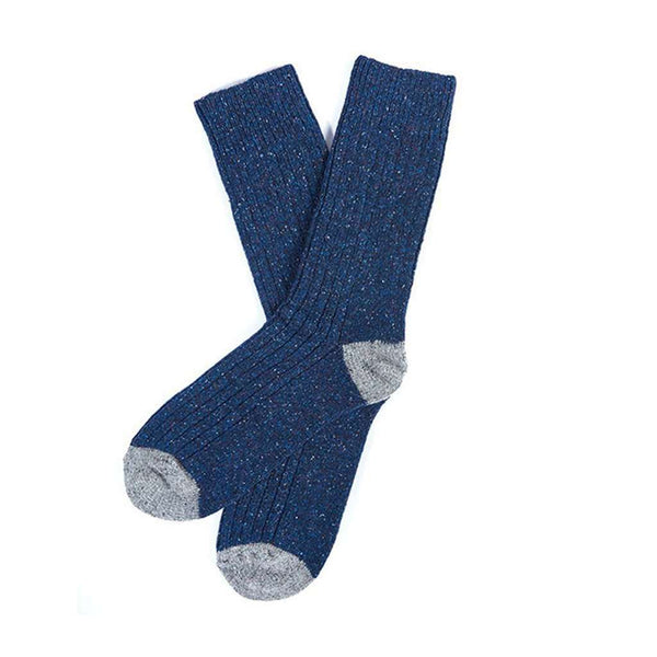 Barbour Houghton Socks in Navy and Grey