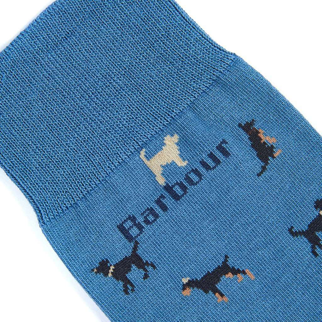 Barbour Mavin Socks in Dark Chambray with Dogs