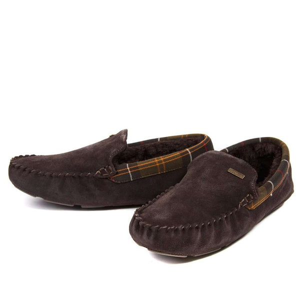 Men's Monty Moccasin Slippers in Brown by Barbour - FINAL SALE