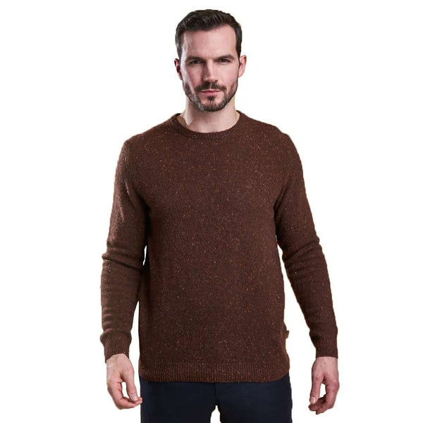Rothesay Crew Neck Jumper in Dark Clay by Barbour - FINAL SALE