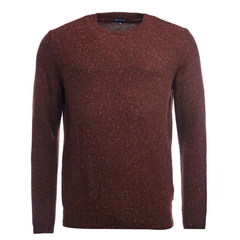 Barbour Rothesay Crew Neck Jumper in Dark Clay