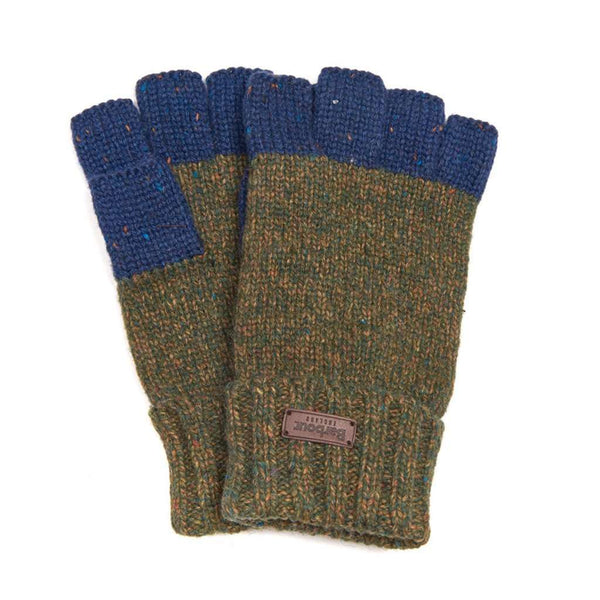 Runshaw Gloves in Olive/Navy by Barbour - FINAL SALE