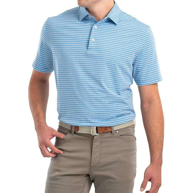Barrett Striped Prep-Formance Jersey Polo by Johnnie-O - FINAL SALE
