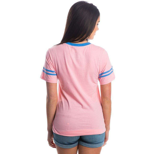 Baseball Logo Jersey in Cotton Candy Pink by Lauren James