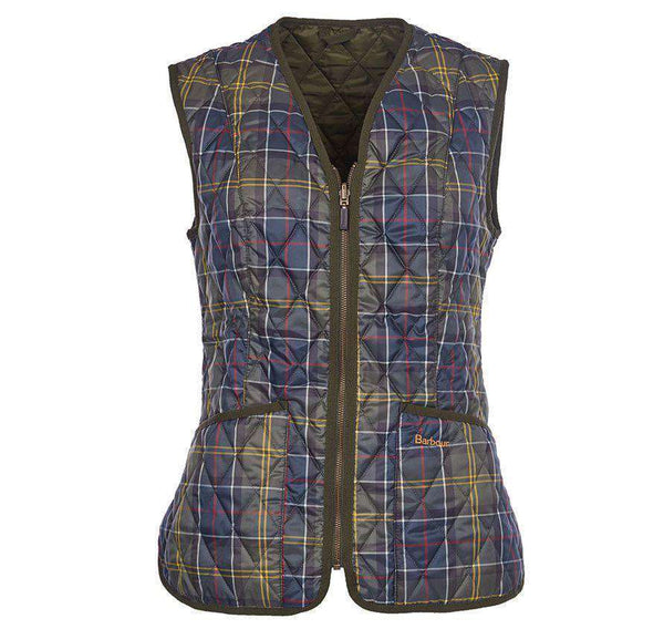 Betty Interactive Gilet Liner in Classic Tartan by Barbour  - 1