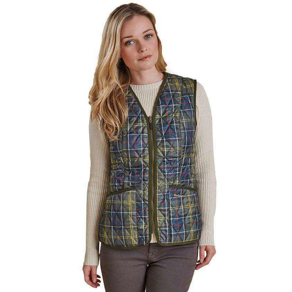 Betty Interactive Gilet Liner in Classic Tartan by Barbour  - 2