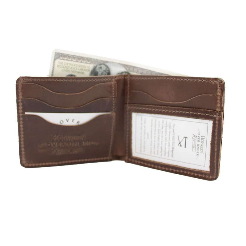 Over Under Clothing Horween Bi-Fold Wallet w/o Shotgun Shell by Over Under Clothing