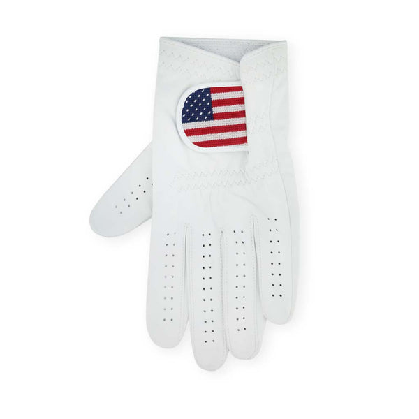 Big American Flag Needlepoint Golf Glove by Smathers & Branson