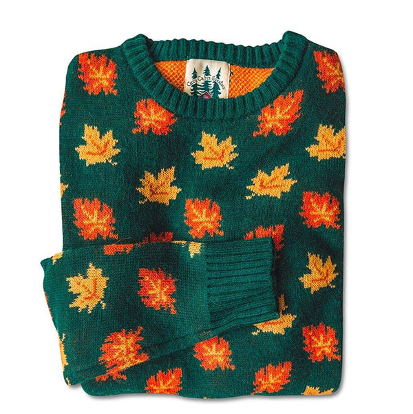 Kiel James Patrick The Big Cozy Fall Leaf Sweater by Kiel James Patrick