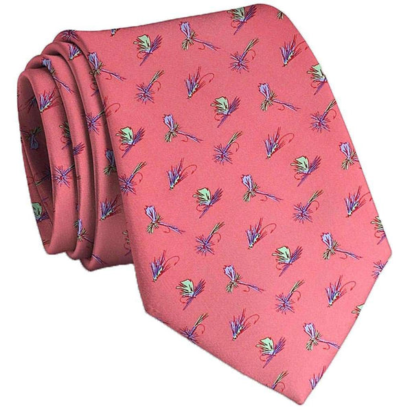 Hooked on Flies Tie in Coral by Bird Dog Bay - FINAL SALE