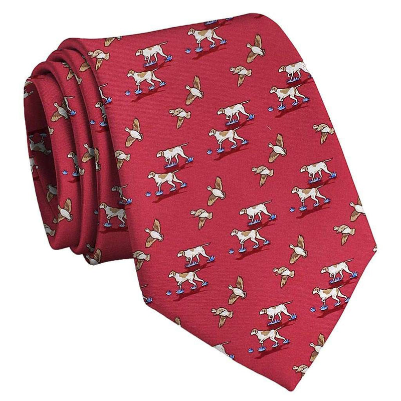 Quail Hunt Tie in Red by Bird Dog Bay - FINAL SALE