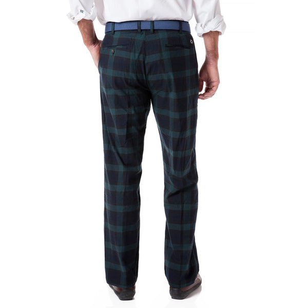 Stretch Twill Harbor Pant in Blackwatch Tartan Plaid by Castaway Clothing