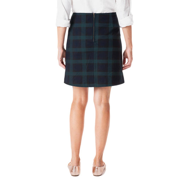 Stretch Twill Ali Skirt in Blackwatch Plaid by Castaway Clothing