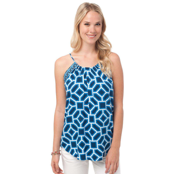 Blake Cami in Mosaic Print by Southern Tide  - 1