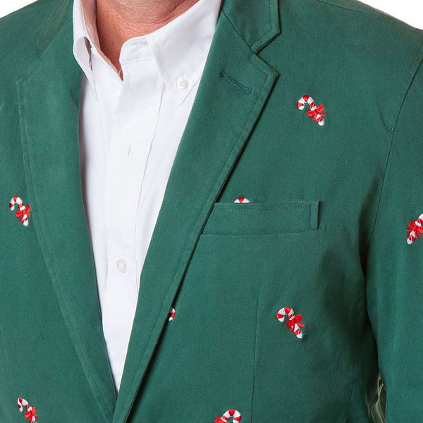 Castaway Clothing Spinnaker Blazer with Embroidered Candy Canes by Castaway Clothing
