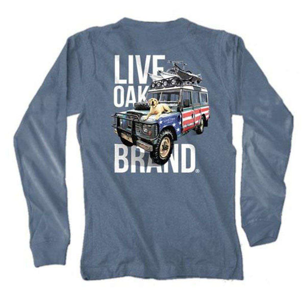 Live Oak American Truck Long Sleeve Tee in Blue Jean