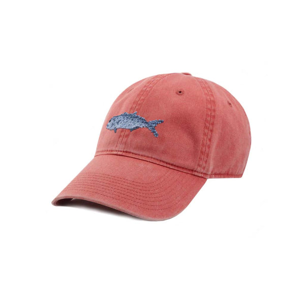 Bluefish Needlepoint Hat in Nantucket Red by Smathers & Branson