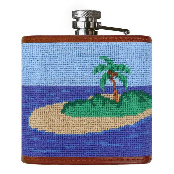 Boat Drink Needlepoint Flask by Smathers & Branson