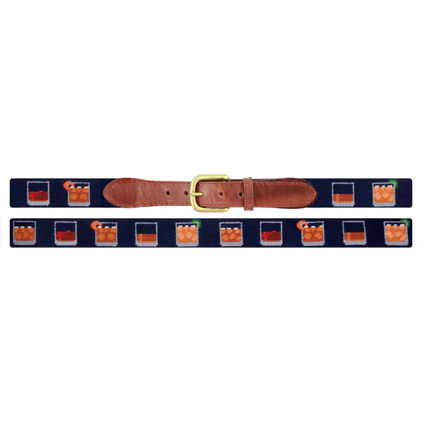 Bourbon Five Ways Needlepoint Belt by Smathers & Branson