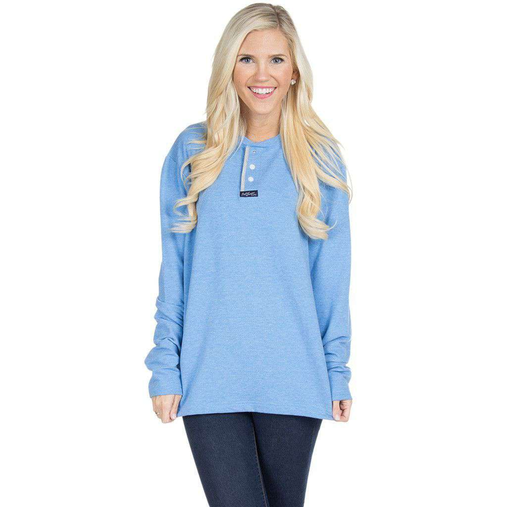 Boyfriend Sweatshirt in Cloud Blue by Lauren James  - 1