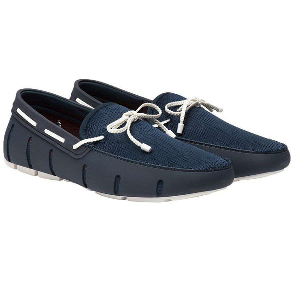 Braided Lace Loafer by SWIMS navy white