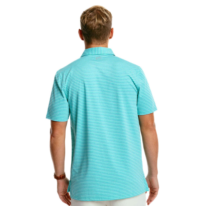 Driver Heather Micro Striped Performance Polo by Southern Tide