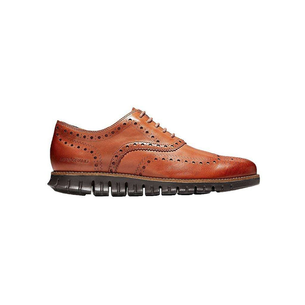 Cole Haan Men's ZERØGRAND Wingtip Oxford in British Tan & Java by Cole Haan