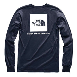 9a2c1b505293 The North Face Men's Long Sleeve Red Box Tee in Urban Navy & White ...