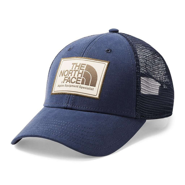 The North Face Mudder Trucker Hat in Urban Navy & Peyote Beige