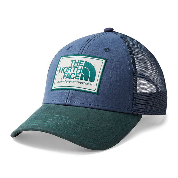 Mudder Trucker Hat in Shady Blue & Botanical Green by The North Face
