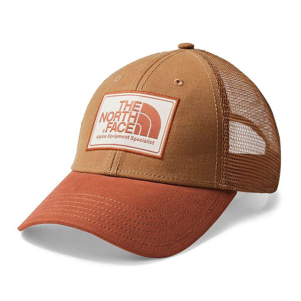 The North Face Mudder Trucker Hat in Cargo Khaki & Gingerbread Brown