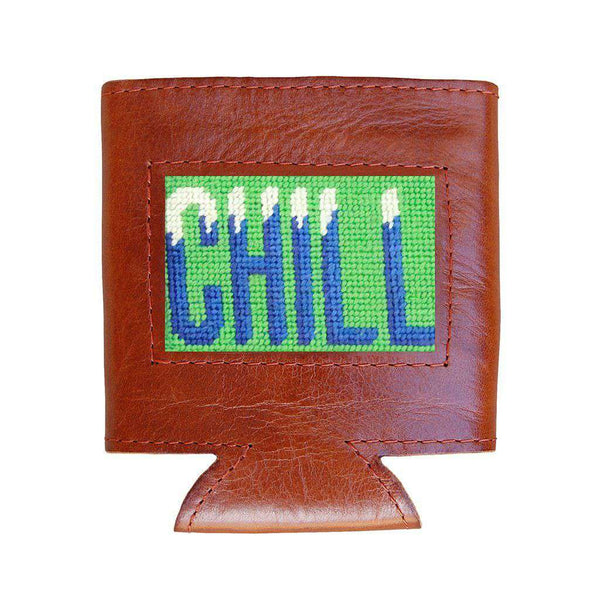 Smathers & Branson Chill Needlepoint Can Cooler in Mint