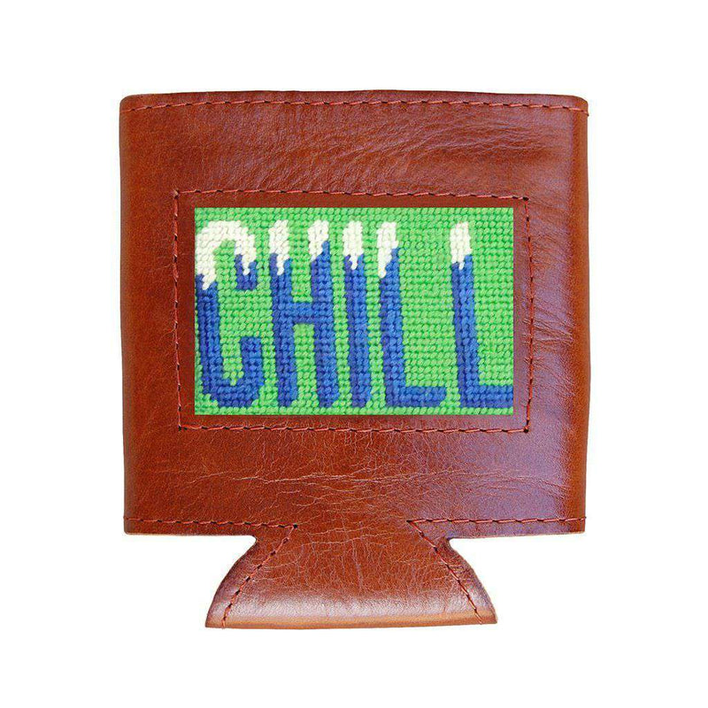 Chill Needlepoint Can Cooler in Mint by Smathers & Branson