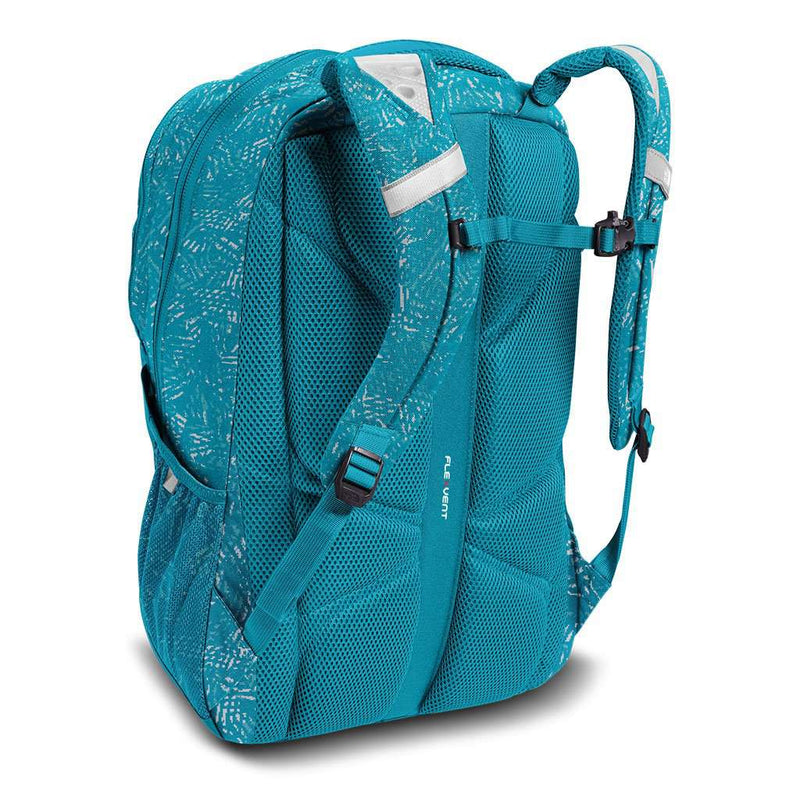 Women's Jester Backpack in Algiers Blue Leaf Print by The North Face