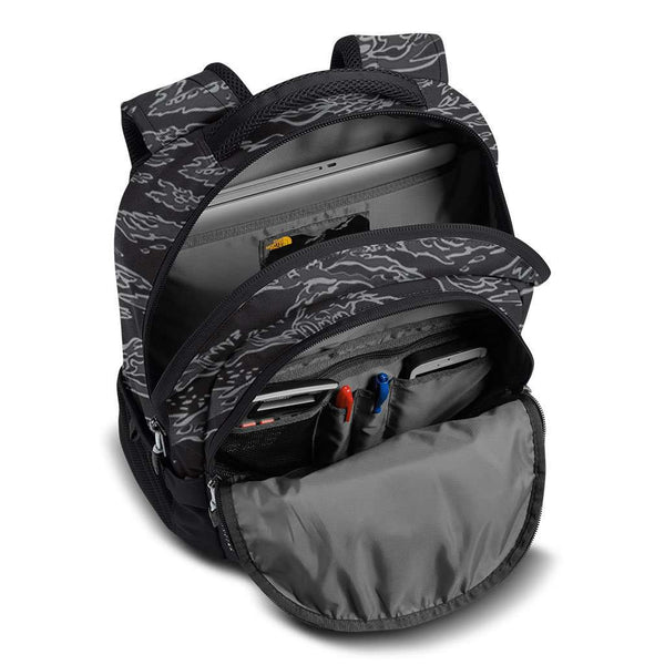 3e2e93de7 Jester Backpack in Black Camo Print & High Rise Grey by The North Face