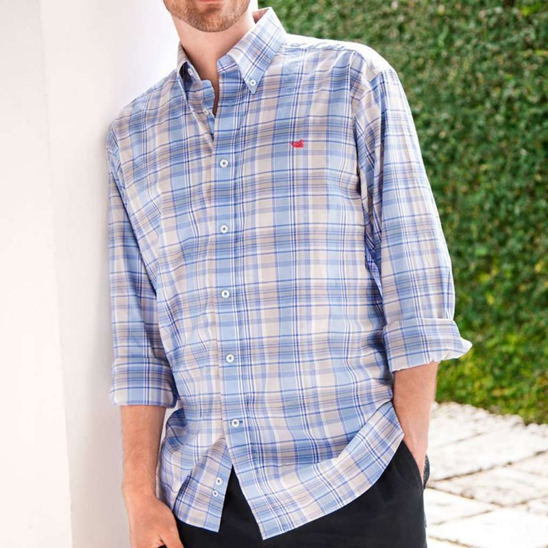 Kershaw Performance Plaid Dress Shirt by Southern Marsh - FINAL SALE