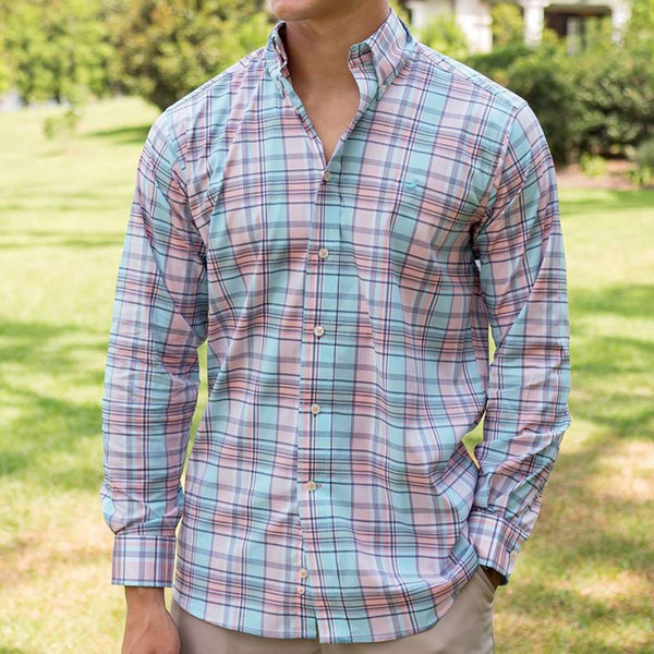 Southern Marsh Kershaw Performance Plaid Dress Shirt
