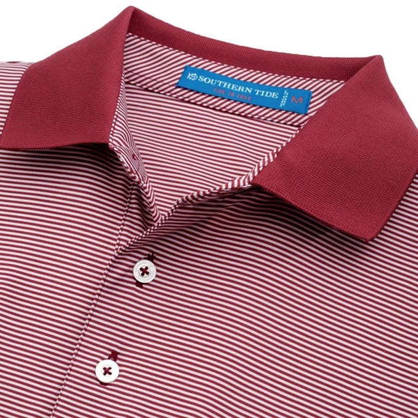 Gameday Feeder Stripe Performance Polo- Florida State University in Chianti by Southern Tide