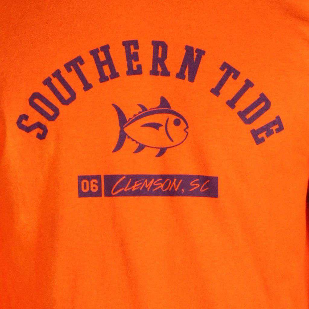 CU Long Sleeve Campus Tee in Endzone Orange by Southern Tide  - 2
