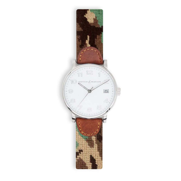 Camo Needlepoint Watch by Smathers & Branson
