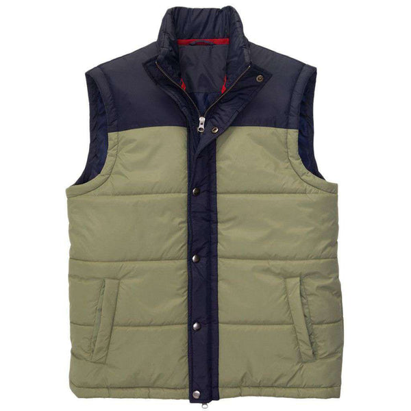 Campground Vest in Loden Frost & Navy by Southern Proper