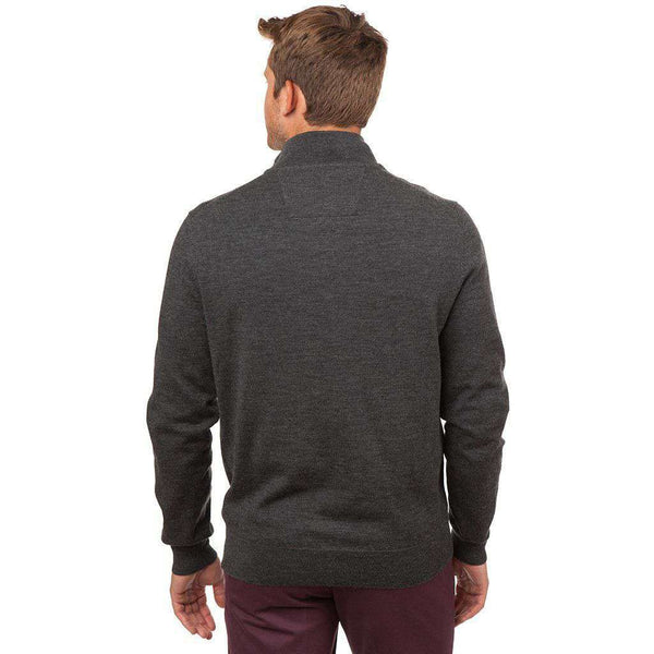 Captains 1/4 Zip Sweater in Charcoal by Southern Tide - FINAL SALE