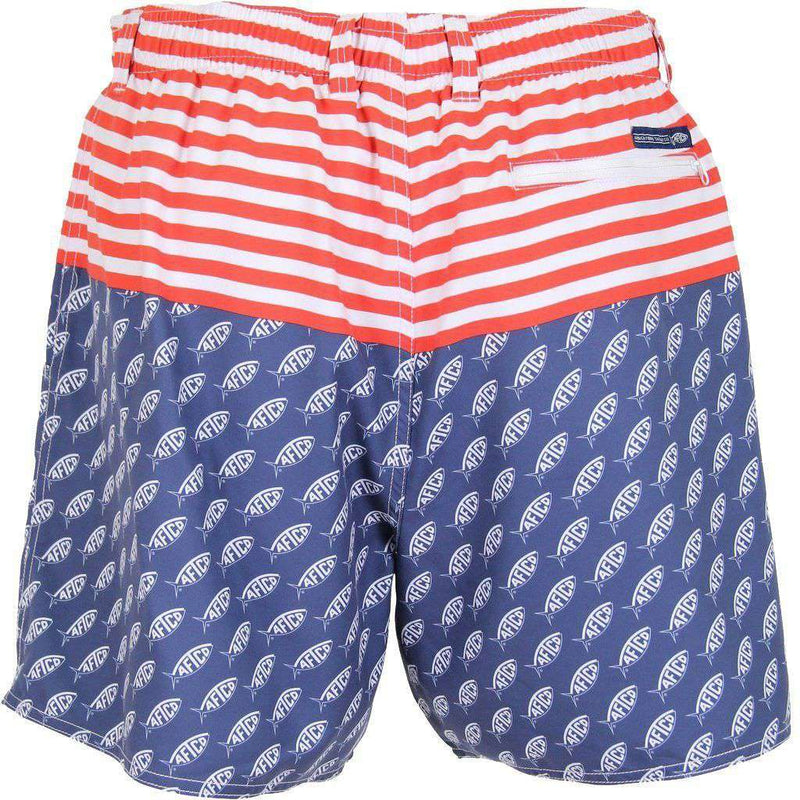 Captain Swim Trunks in Midnight by AFTCO - FINAL SALE