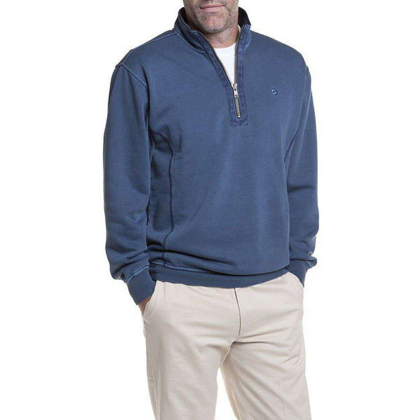 Castaway Clothing Breakwater Quarter Zip in Navy