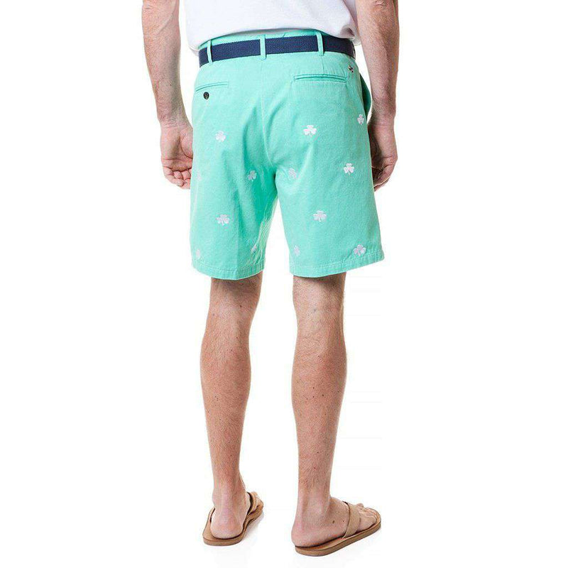 Cisco Short with Embroidered Shamrocks by Castaway Clothing - FINAL SALE