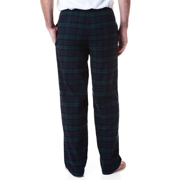 Castaway Clothing Flannel Sleeper Pant in Blackwatch Plaid