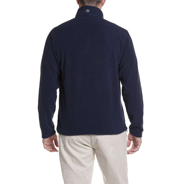 Castaway Clothing Tidal Fleece Quarterzip Pullover in Nantucket Navy with Royal Stewart