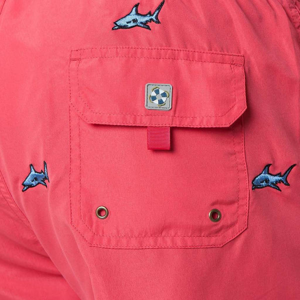 Castaway Clothing Sandbar Swimsuit with Embroidered Sharks by Castaway Clothing