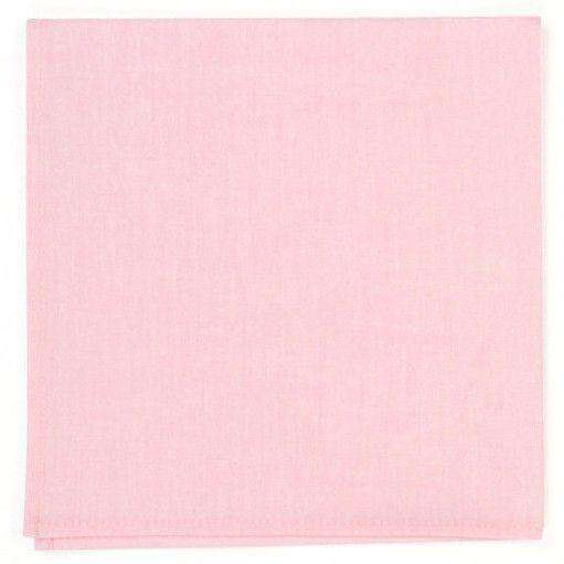 Chambray Pocket Square in Pink by High Cotton  - 1